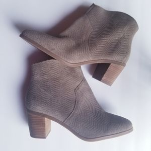 Lucky Brand genuine leather women's taupe bootie